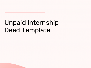 unpaid internship agreement template
