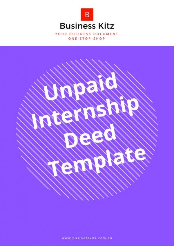 internship deed human resources management business employment document template