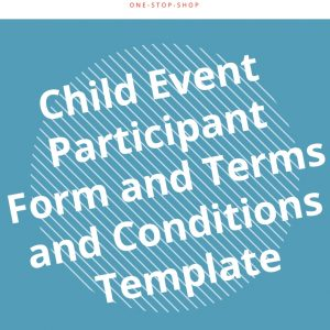 event organising participation form template agreement business document