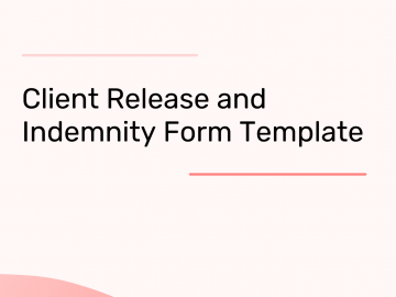 Client Release and Indemnity Template