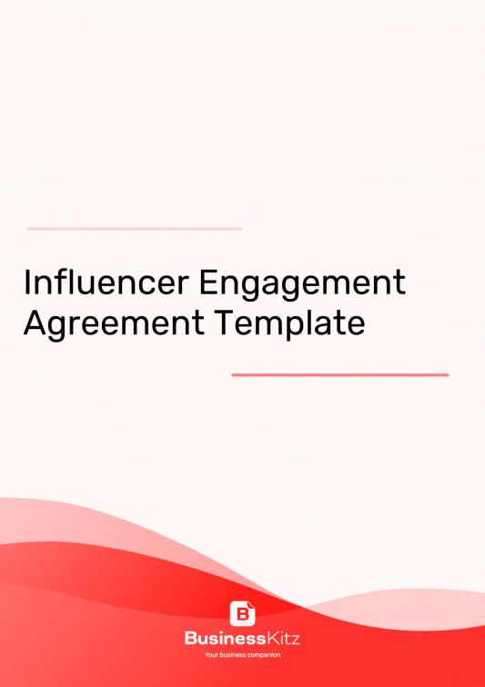 social media influencer agreement template