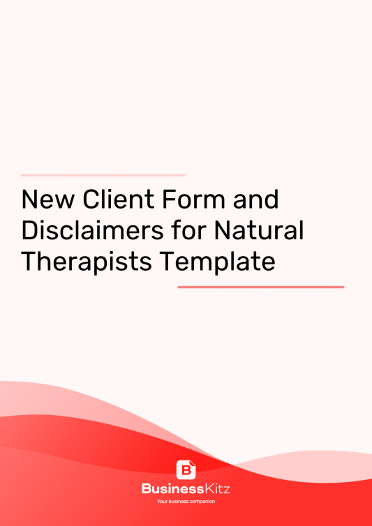 New Client Onboarding Form and Disclaimers for Natural Therapists