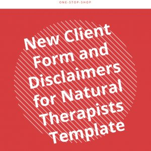 new client details information form disclaimer natural therapist template agreement business management document customer relationship
