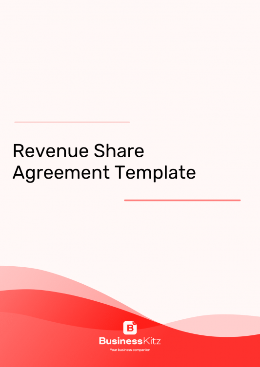 Revenue Sharing Agreement template