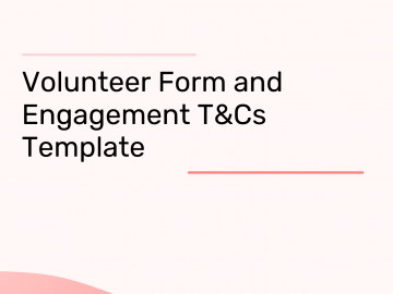 Volunteer Form and Engagement T&Cs
