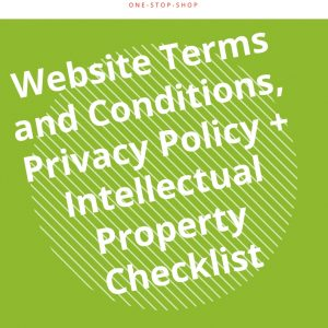 business kitz online policy checklist privacy intellectual property IP protection template document agreement