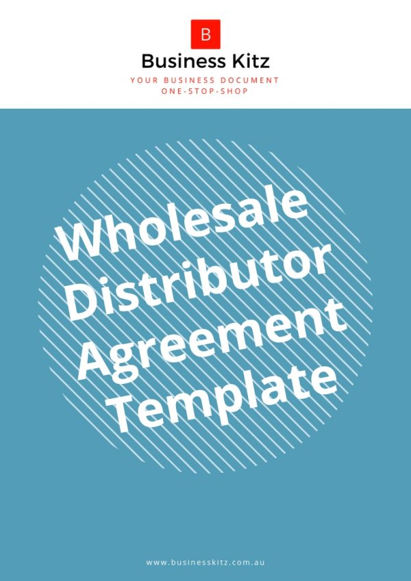 wholesale distributor partner business cooperation management agreement document template