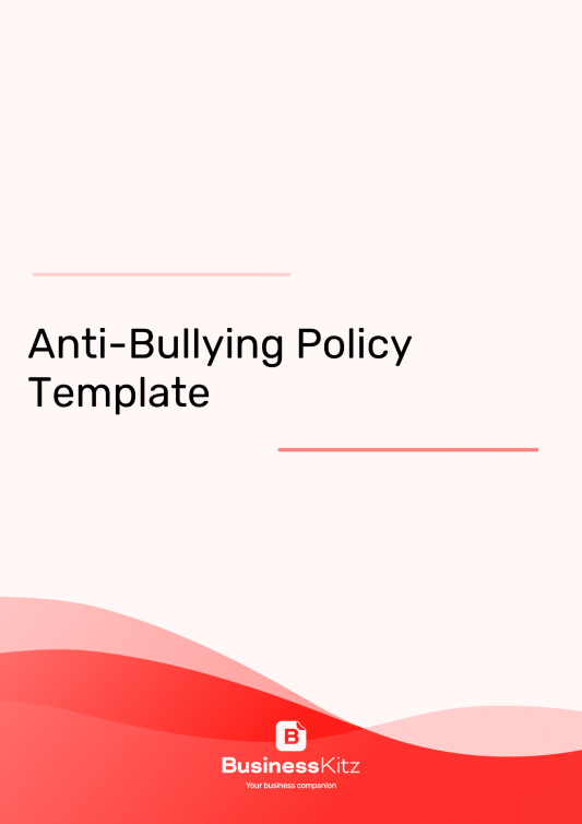 Anti-Bullying Policy Workplace
