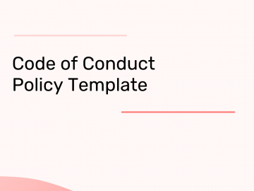 code of conduct template