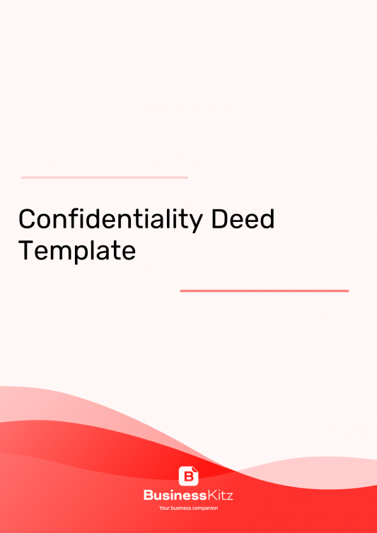 deed of confidentiality template