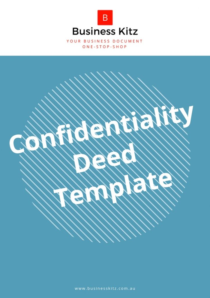 Confidentiality Deed Template