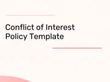 Conflict of Interest Template Policy Template