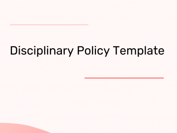 Disciplinary Policy Template