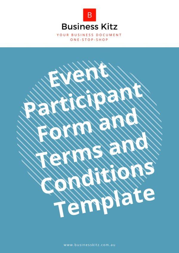event participation engagement form template business document