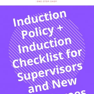 new employee management human resources HR induction guide supervisor checklist