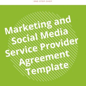 online marketing social media business service scope agreement template