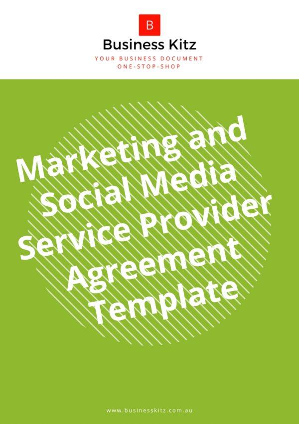 online marketing social media business service scope agreement template