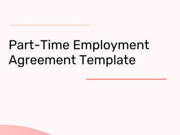 Part-Time Employment Agreement