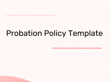Probation Policy Template