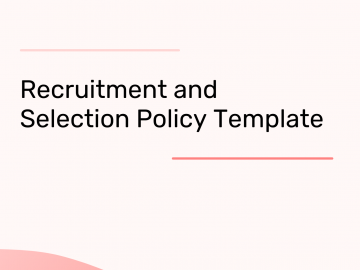 recruitment policy template