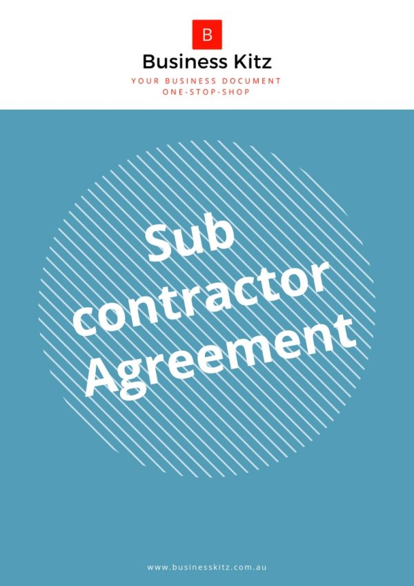 business kitz subcontractor partner management agreement template document