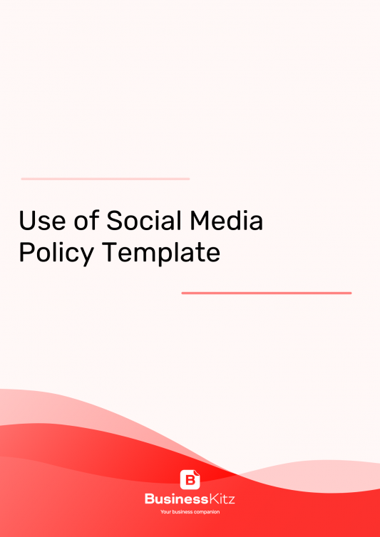 Use of Social Media Policy Template