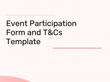 event participation agreement template