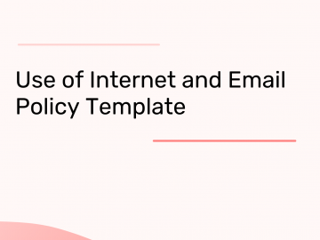 internet and email usage policy template