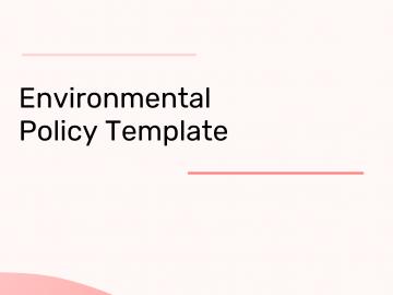 Environmental Policy Australia Template