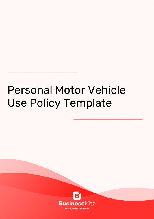 Personal Motor Vehicle Use Template