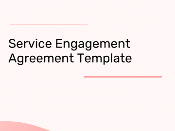 Service Engagement Agreement (for businesses)