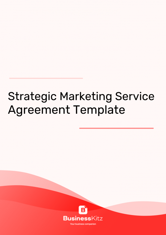 Strategic Marketing Service Agreement