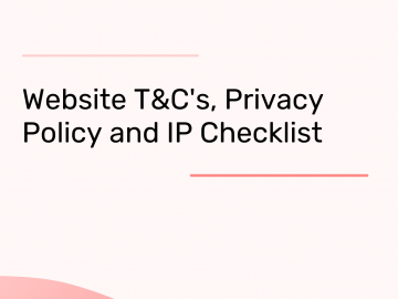 Website Terms of Use and Privacy Policy templates