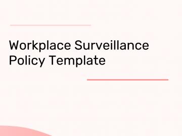 Workplace Surveillance Policy